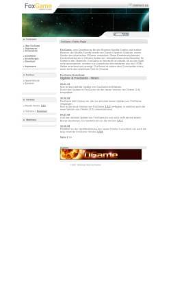Vorschau der mobilen Webseite www.foxgame.de, FoxGame