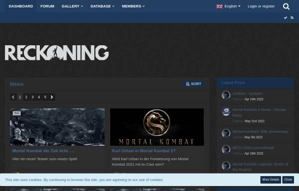 Vorschau von www.mortalkombat.at, Mortal Kombat Reckoning
