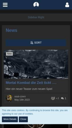 Vorschau der mobilen Webseite www.mortalkombat.at, Mortal Kombat Reckoning