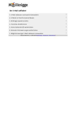 Vorschau der mobilen Webseite www.mailknigge.de, Mailknigge - Deutschlands Leitfaden zum richtigen Mailen