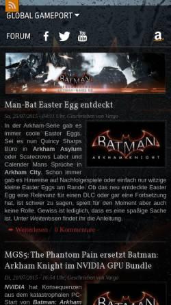 Vorschau der mobilen Webseite www.batman-game.de, Batman-Game.de