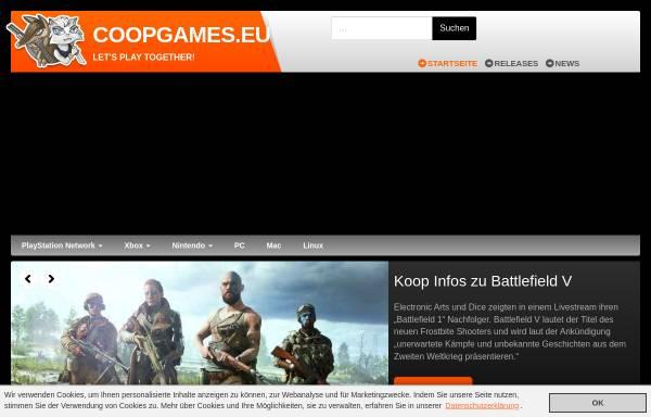 Vorschau von www.coopgames.eu, Coopgames.eu