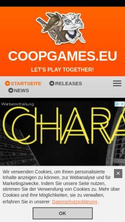 Vorschau der mobilen Webseite www.coopgames.eu, Coopgames.eu