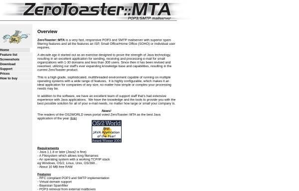 Vorschau von www.zerotoaster.de, ZeroToaster::MTA