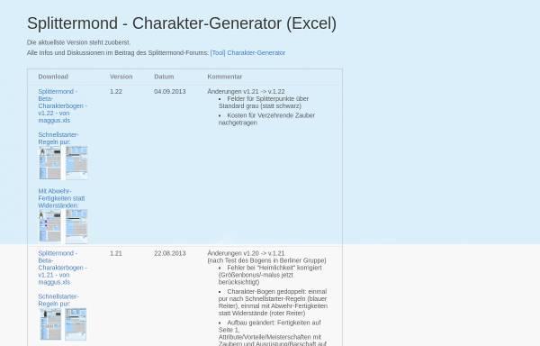 Vorschau von berneburg.de, Charakter-Generator (Excel)