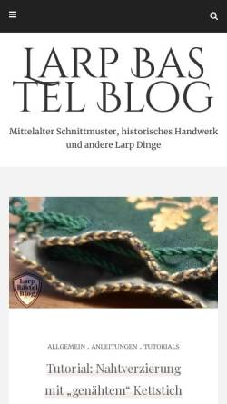 Vorschau der mobilen Webseite www.larp-basteln.de, Larp Bastel Blog