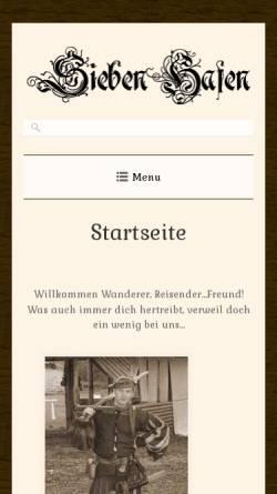 Vorschau der mobilen Webseite www.siebenhafen.de, Sieben Hafen