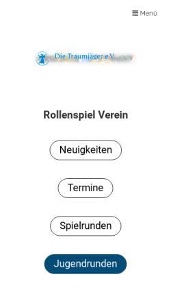 Vorschau der mobilen Webseite www.die-traumjaeger.de, Die Traumjäger e.V.