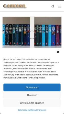 Vorschau der mobilen Webseite www.arkanil.de, Arkanil