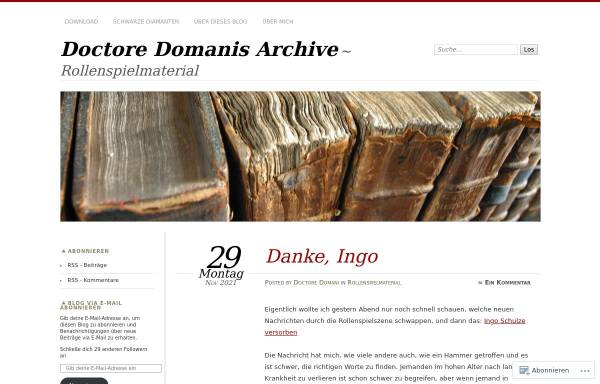 Vorschau von doctoredomani.wordpress.com, Doctore Domanis Archive
