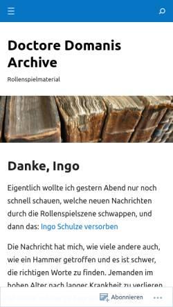 Vorschau der mobilen Webseite doctoredomani.wordpress.com, Doctore Domanis Archive