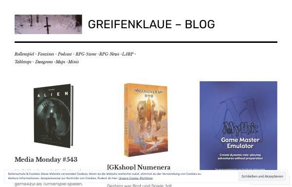 Vorschau von greifenklaue.wordpress.com, Greifenklaue's Blog
