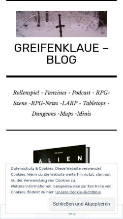 Vorschau der mobilen Webseite greifenklaue.wordpress.com, Greifenklaue's Blog