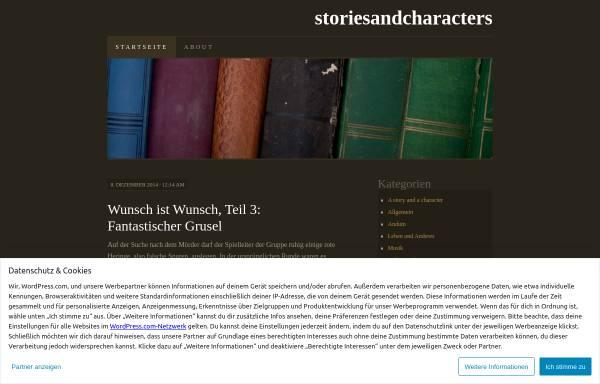 Vorschau von storiesandcharacters.wordpress.com, Storiesandcharacters