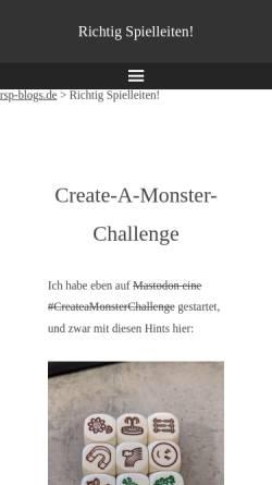 Vorschau der mobilen Webseite richtig.spielleiten.de, Richtig Spielleiten