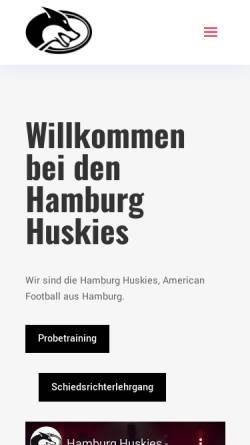 Vorschau der mobilen Webseite www.gohuskies.de, HTHC Hamburg Huskies