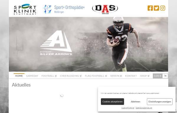 Vorschau von www.silverarrows.de, AFC Stuttgart Silver Arrows e.V.