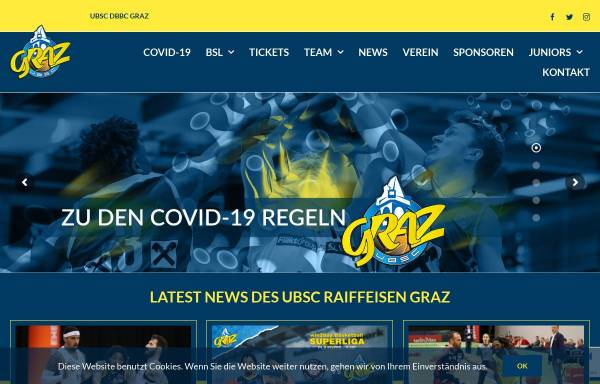 Vorschau von www.ubsc-graz.at, UBSC Graz