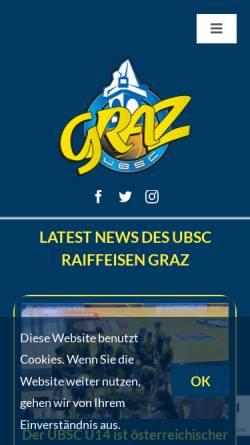 Vorschau der mobilen Webseite www.ubsc-graz.at, UBSC Graz