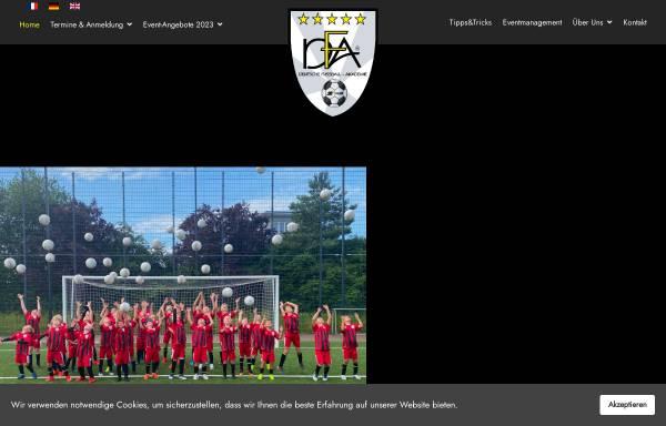 Vorschau von www.dfa-web.de, Deutsche Fussball-Akademie Gesellschaft für Kinder- und Jugendfußball mbH