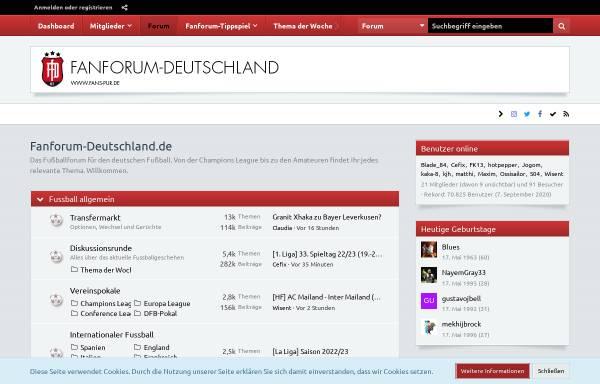 Vorschau von www.fanforum-deutschland.de, Fanforum-Deutschland