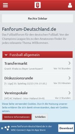 Vorschau der mobilen Webseite www.fanforum-deutschland.de, Fanforum-Deutschland