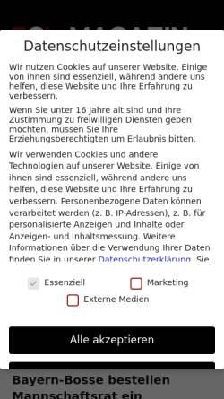 Vorschau der mobilen Webseite www.bayernboard.de, Bayernboard