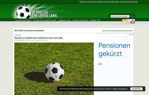 Vorschau von blog-fussball.de, 90 Minuten ein Leben lang