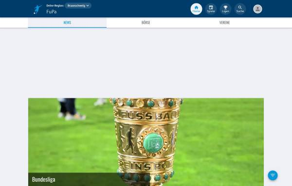 Vorschau von kf-bs.de, Kreisfussball Braunschweig