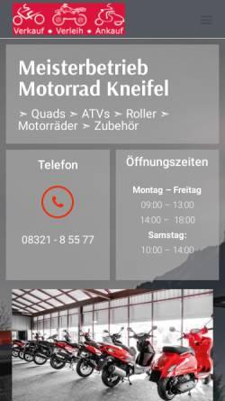 Vorschau der mobilen Webseite motorrad-allgaeu.de, Firma Herbert Kneifel