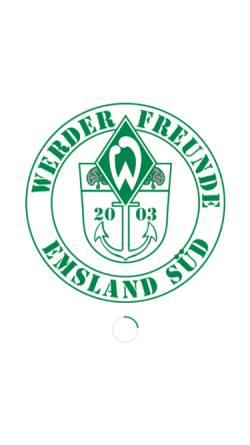 Vorschau der mobilen Webseite www.werderfreunde.de, Werderfreunde Emsland Süd