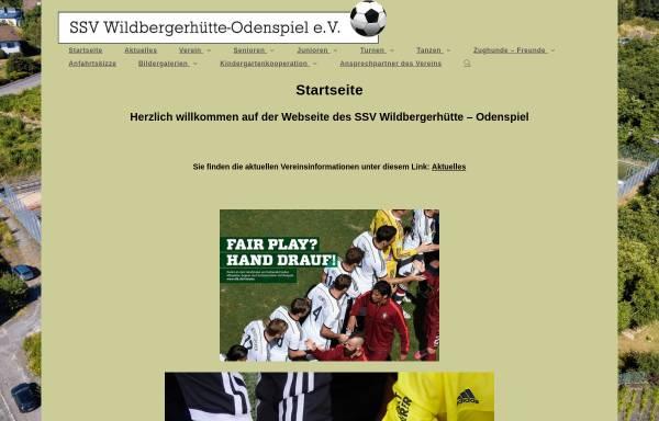 Vorschau von ssv-wildbergerhuette-odenspiel.de, SSV Wildbergerhütte-Odenspiel e.V.