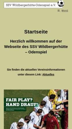Vorschau der mobilen Webseite ssv-wildbergerhuette-odenspiel.de, SSV Wildbergerhütte-Odenspiel e.V.