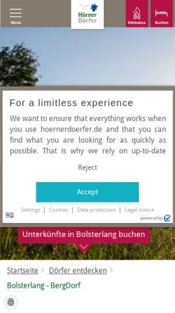 Vorschau der mobilen Webseite www.bolsterlang.de, Bolsterlang