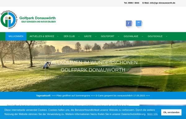 Vorschau von www.gc-donauwoerth.de, Golfclub Donauwörth Gut Lederstatt
