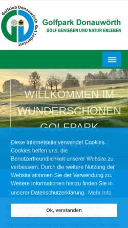 Vorschau der mobilen Webseite www.gc-donauwoerth.de, Golfclub Donauwörth Gut Lederstatt