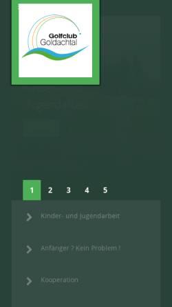 Vorschau der mobilen Webseite golfclub-goldachtal.de, Golfrclub Goldachtal