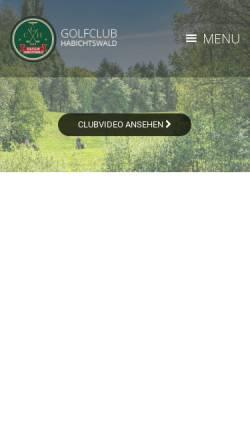 Vorschau der mobilen Webseite www.golfclub-habichtswald.de, Golfclub Habichtswald
