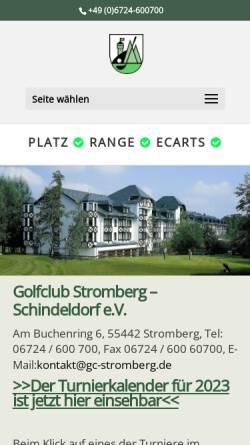 Vorschau der mobilen Webseite www.gc-stromberg.de, Golf-Club Stromberg-Schindeldorf e.V.