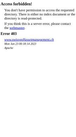 Vorschau der mobilen Webseite www.swissgolfassetmanagement.ch, Swiss Golf Asset Management