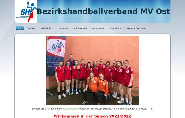 Vorschau von www.bhv-mv-ost.de, BHV Mecklenburg-Vorpommern Ost