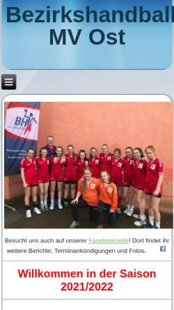 Vorschau der mobilen Webseite www.bhv-mv-ost.de, BHV Mecklenburg-Vorpommern Ost