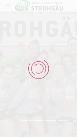 Vorschau der mobilen Webseite www.hsg-strohgaeu.de, HSG Strohgäu