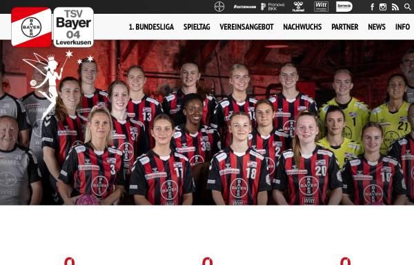 """Vorschau von www.werkselfen.de, TSV Bayer 04 """"Die Elfen"""""""