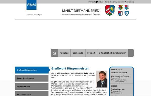 Vorschau von www.dietmannsried.de, Markt Dietmannsried