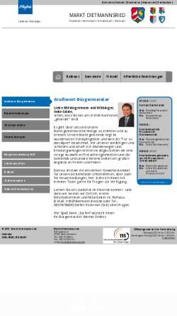 Vorschau der mobilen Webseite www.dietmannsried.de, Markt Dietmannsried