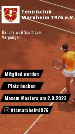Vorschau der mobilen Webseite tc-marxheim.de, Tennisclub Marxheim