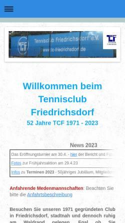 Vorschau der mobilen Webseite www.tc-friedrichsdorf.de, Tennisclub Friedrichsdorf e.V.