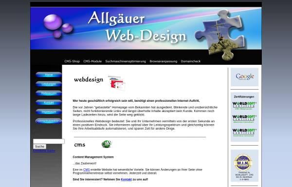 Vorschau von allgaeuer-webdesign.de, Allgäuer Web-Design