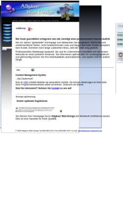 Vorschau der mobilen Webseite allgaeuer-webdesign.de, Allgäuer Web-Design